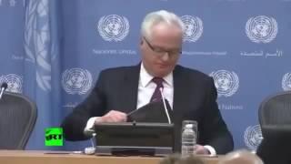 Виталий Чуркин просто убил США. Смотреть Всем! Новости Мира,ООН, Россия,США,