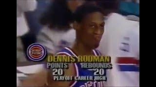 Dennis Rodman's Best Playoff Game as a Piston (vs. Bulls, 1990)