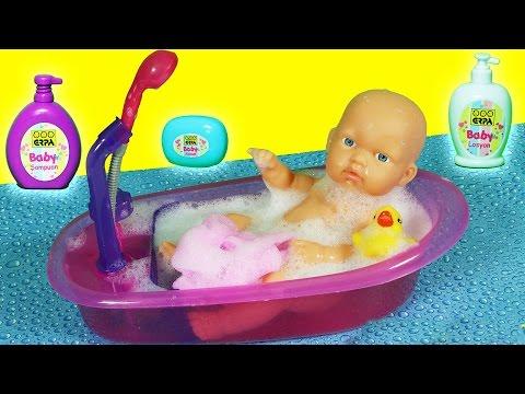 bebek bakma oyunu oyuncak bebek yıkama evcilik tv