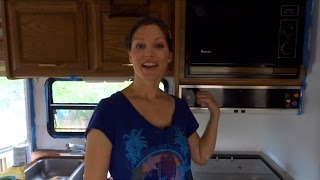 RV Renovations: How to paint over wall paper