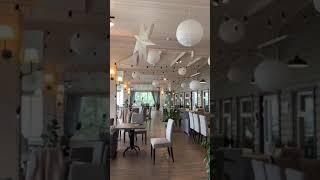 Оформление гирляндой с лампочками на свадьбу