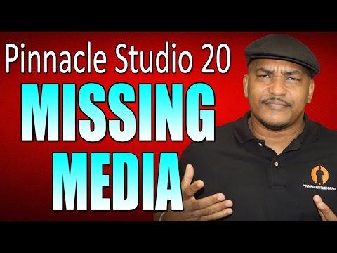 Pinnacle Studio 20 Ultimate   Relinking Missing Media Tutorial