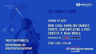 SSAC18: How Legal Gambling Changes Sports