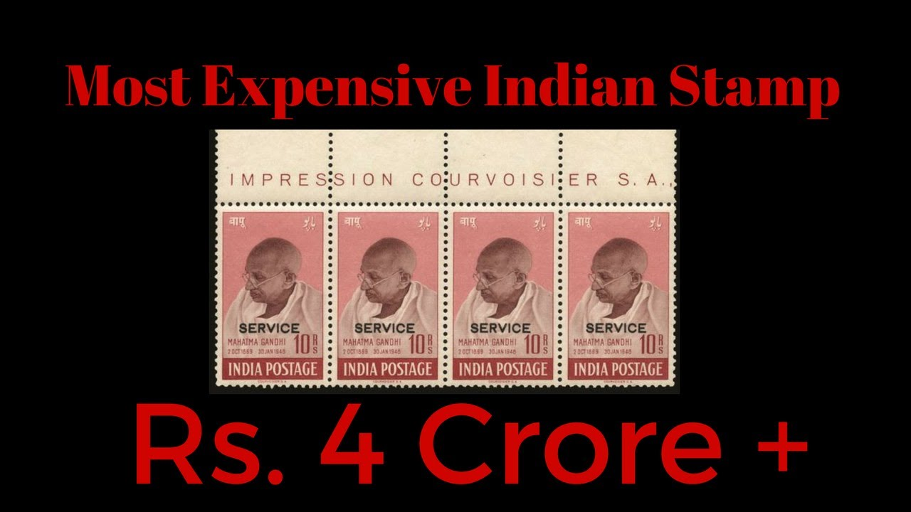 Mahatma Gandhi India Stamp Sold for over 4 Crore Rupees Most Expensive  Indian Stamp Record