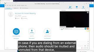 Cisco WebEx - Hosting a Webex Meeting