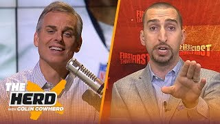 Nick Wright on Patrick Mahomes' MVP odds, Antonio Brown & NFL coaching vacancies | NFL | THE HERD