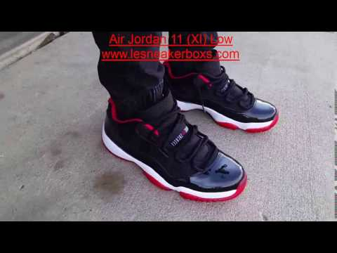 Air Jordan 11 (XI) Low – Bred Noir / True Rouge – Blanc