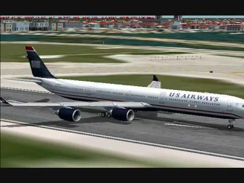 FS9 - CLS Airbus A340-600 Test Flight at KMIA