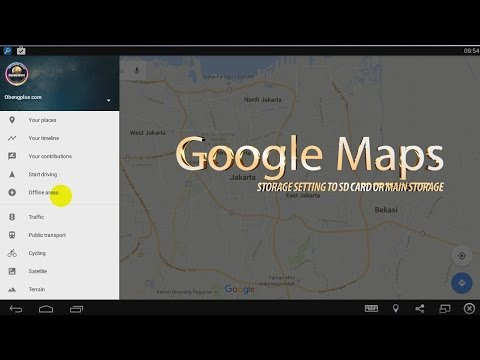 Google Maps Offline setting Storage and SD card