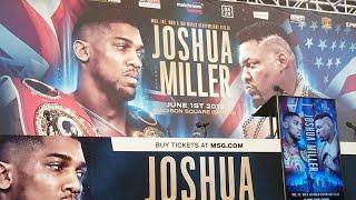 ANTHONY JOSHUA VS JARRELL MILLER LIVE PRESS CONFERENCE  !!