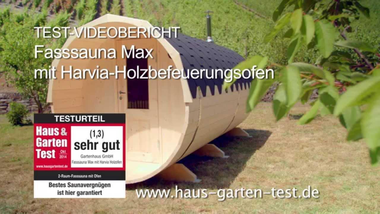 Test Aufbau 2 Raum Fass Sauna Max Youtube