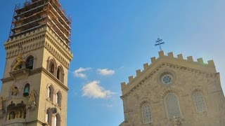 Bell Tower Lion Roars, Rooster Crows in Messina, Sicily