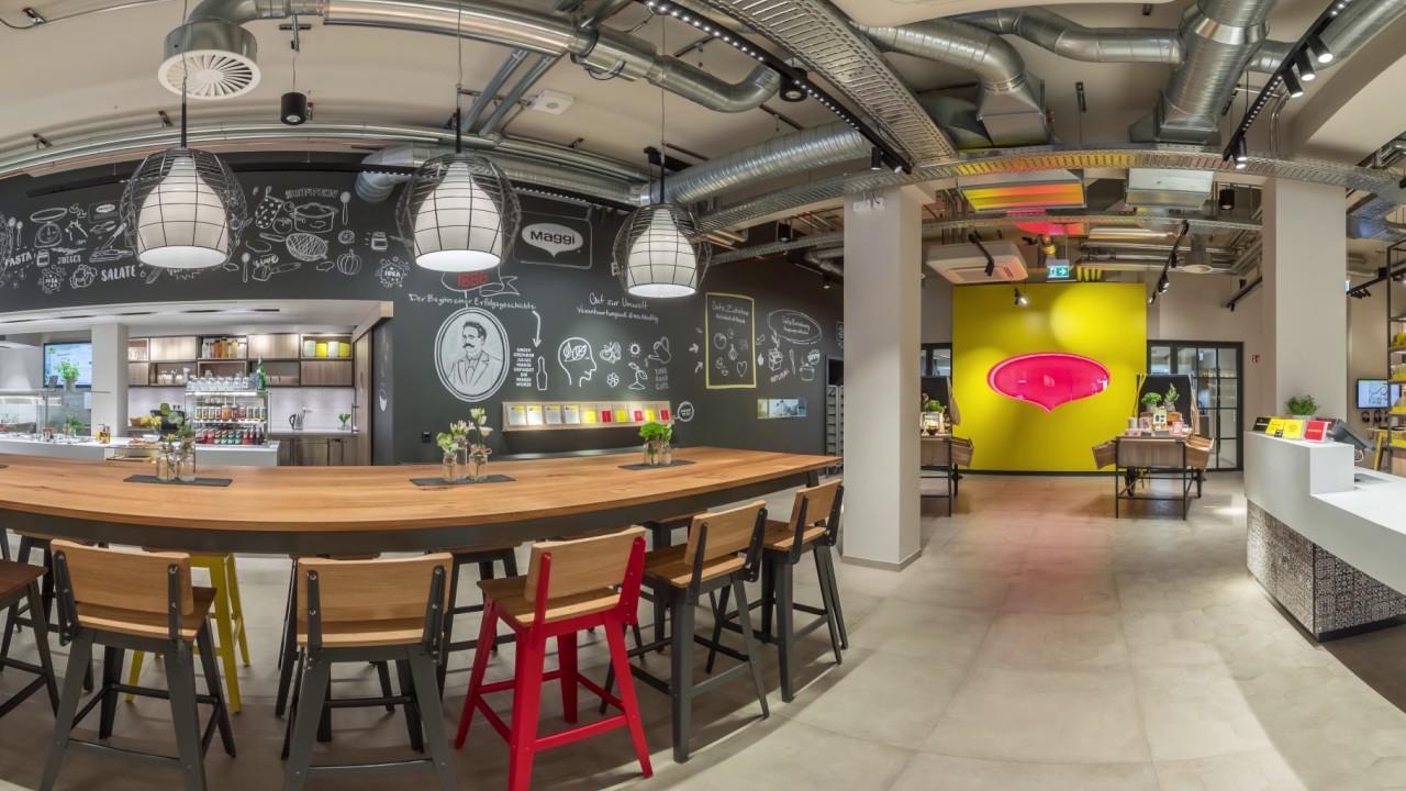 Kochstudio  MAGGI Kochstudio Frankfurt - 360° Ansicht - YouTube