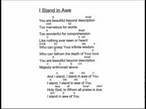 I Stand in Awe (with Chords) - YouTube