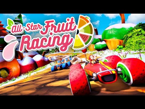 FRUIT RACING MARIO KART GAME! (AllStar Fruit Racing)