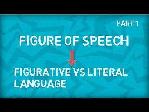 Figure Of Speech | Figurative Vs Literal Language | Figurative Meaning Vs Literal Meaning