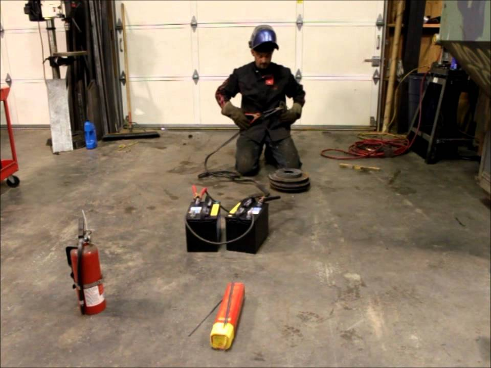 Welding With Jumper Cables And A Pair Of Batteries Youtube