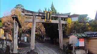 4K Walking Awata Jinja Shrine 粟田神社 Kyoto Holy place of Touken Ranbu 刀剣乱舞