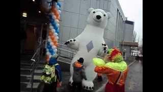 Ростовой надувной костюм Белый медведь-гигант