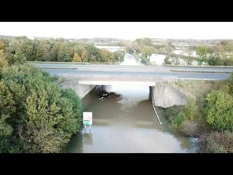 Sileby Road / Slash Lane Leicestershire Floods 27.10.2019