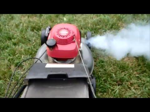 honda hrr harmony ii lawn mower quadra cut system  returned part  july