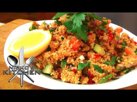 Turkish Couscous Salad Ksr  Video Recipe  YouTube
