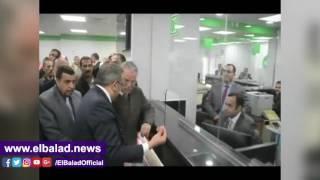 محافظ المنيا يفتتح أعمال تطوير مكتب مجمع المصالح الحكومية.. فيديو وصور