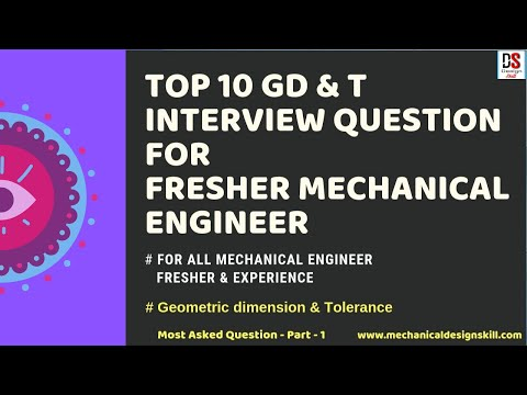 TOP 10 GD&T Interview Question for Fresher Mechanical Engineer I Geometric Dimension & Tolerance -01
