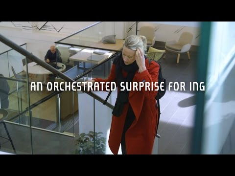 See how the Royal Concertgebouw Orchestra surprised ING with a special concert