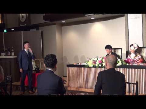 結婚披露宴  主賓挨拶  社長の感動的なスピーチです