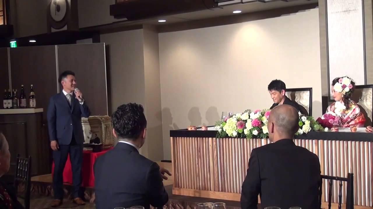 結婚披露宴 主賓挨拶 社長の感動的なスピーチです Youtube