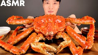 ASMR MUKBANG 🦀 GIANT RED KING CRAB 3KG EATING SHOW 帝王蟹 キンクレプ  ปูยักษ์ 螃蟹 킹크랩 먹방
