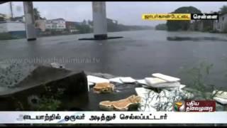 Man washed away in Adayar flood, search underway