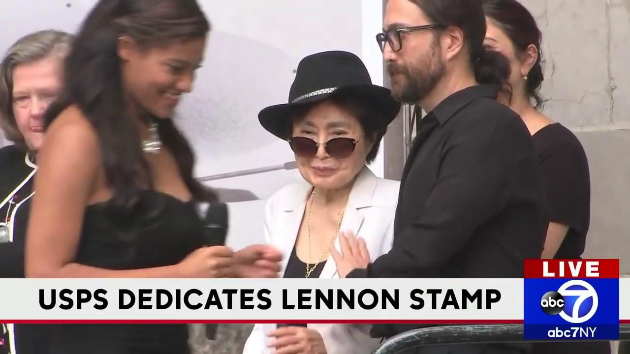 USPS unveils John Lennon Forever stamp