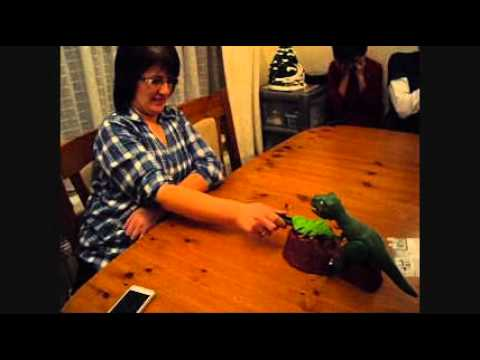 Funny Mum Playing Dino Bite