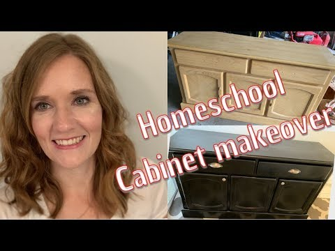DIY: Homeschool Cabinet Makeover! Furniture transformation Farmhouse Style