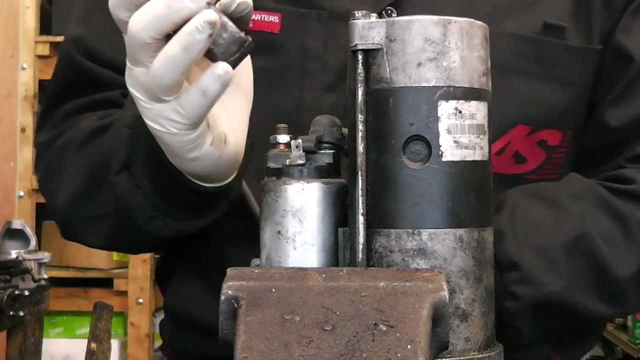 hight resolution of mitsubishi pajero l200 starter motor solenoid and bendix change 2 5 td youtube