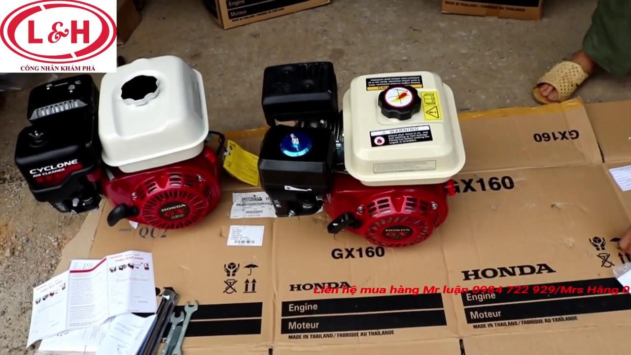 Cách phân biệt Động cơ xăng GX160 thái xịn và hàng trôi nổi Counterfeit Honda engines thailan