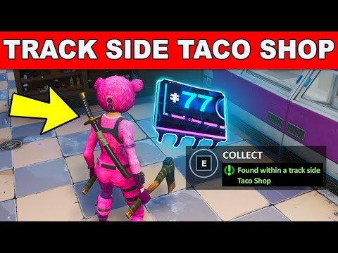 Fortnite Fortbyte #77 Location- Found Within a Track Side Taco Shop