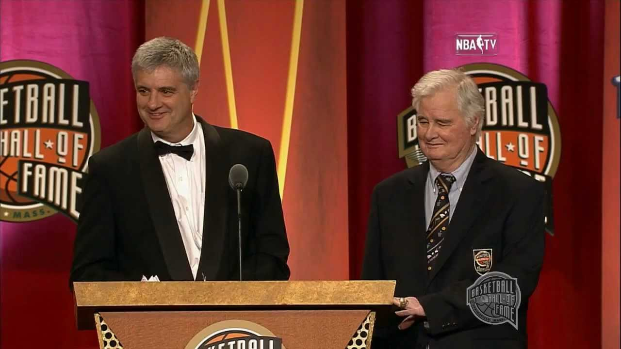 """Fred """"Tex"""" Winter's Basketball Hall of Fame Enshrinement ..."""