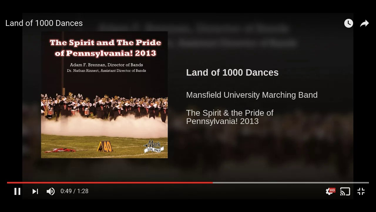 Land of 1000 Dances - Pep Band