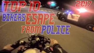 Police chases a dirt bike goes scirt scirt