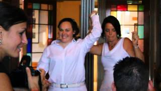 Kate & Cat Wedding Reception: The Bridal Party Entrance