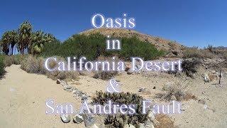 Oasis en Desierto de California y Falla de San Andres