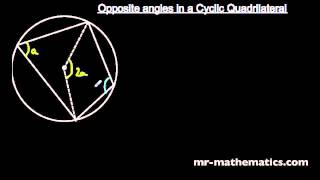 Proof Cyclic Quadrilaterals Mathematics Revision