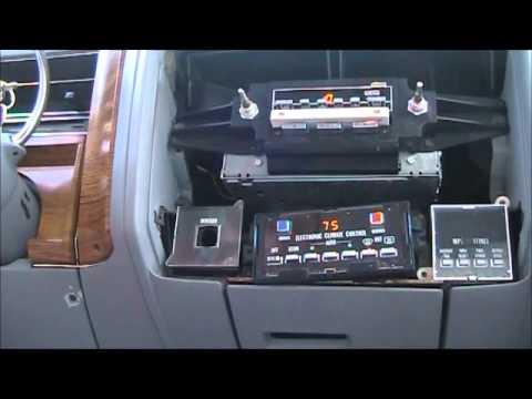 1981 Cadillac Sedan Deville, trunk latch and blower motor repair.
