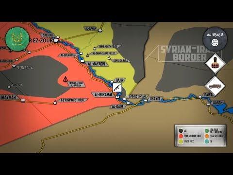 11 июня 2018. Военная обстановка в Сирии. Бои против ИГИЛ возле реки Евфрат и провинции Сувейда.