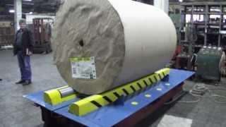 Mašine za kartonažu - Uređaj za ljuštenje omotača sa rolni roto-papira - ljuštilica