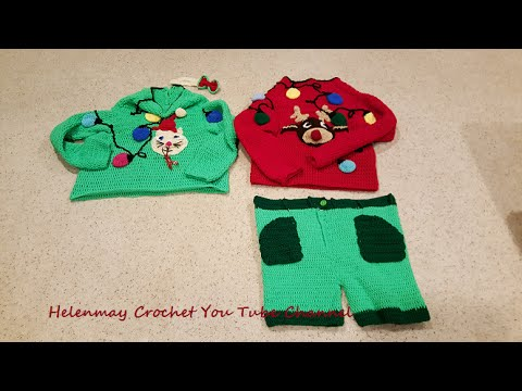 d1270c721a27 Crochet Funny Adult Sweater Party Part 1 of 2 DIY Tutorial - YouTube