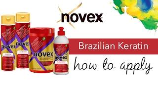 Novex Brazilian Keratin - How to apply
